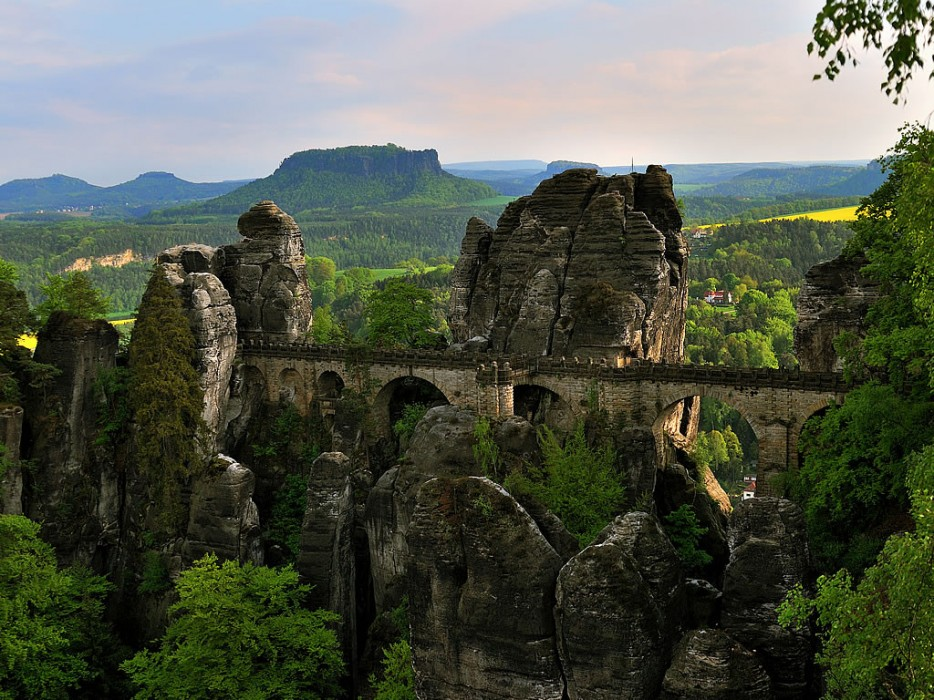 16. Bastei Bridge, Elbe Sandstone Mountains in Germany