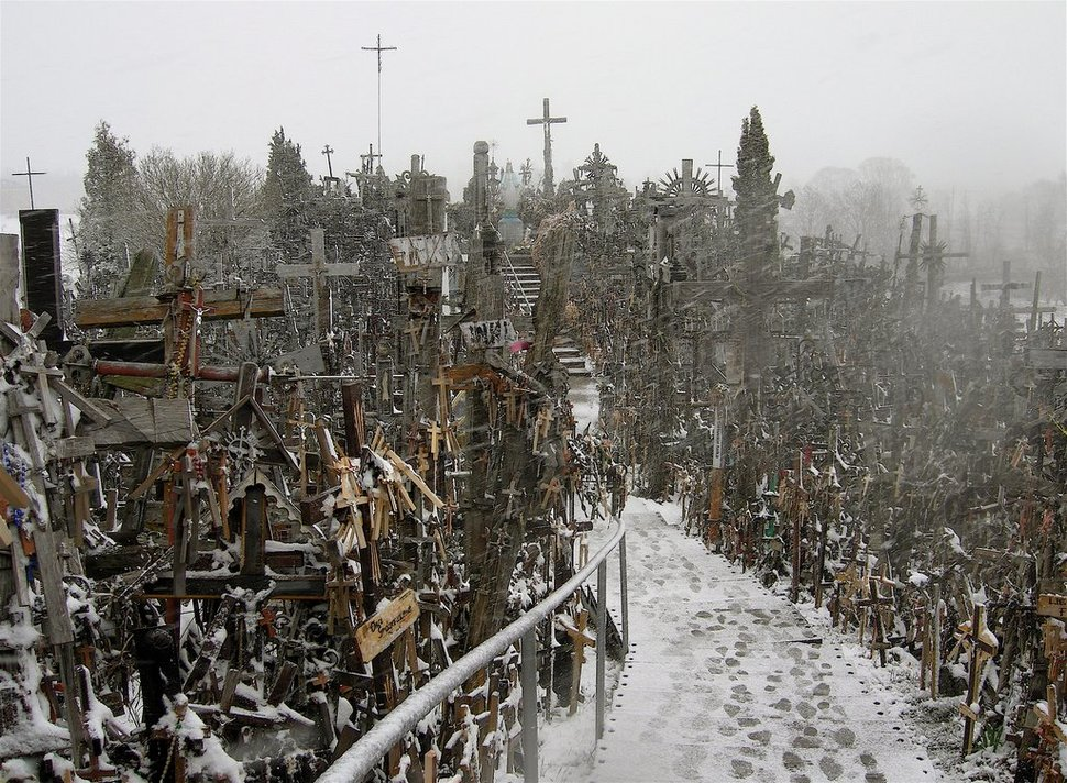 20. Hill of Crosses in Lithuania