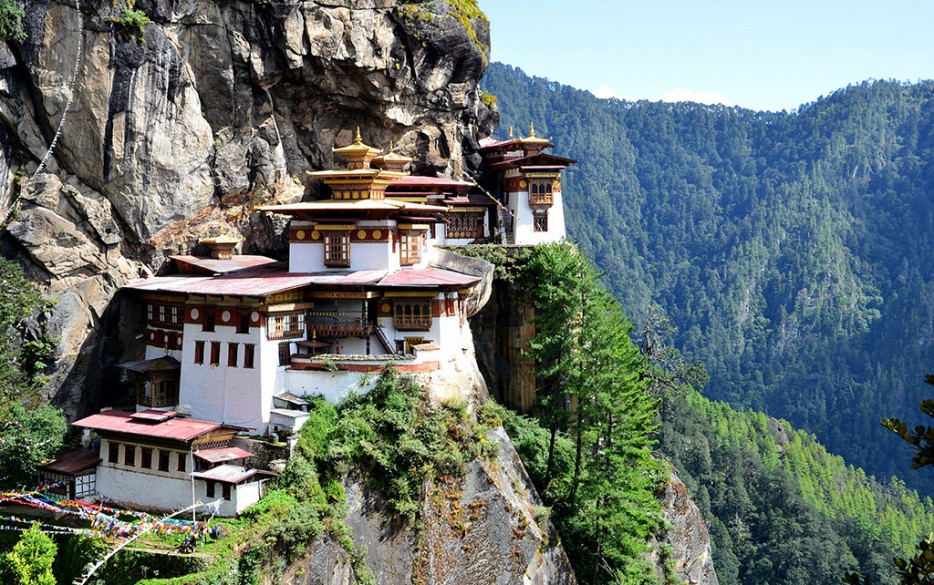 8. Tiger's Nest Monastery in Paro Valley, Bhutan