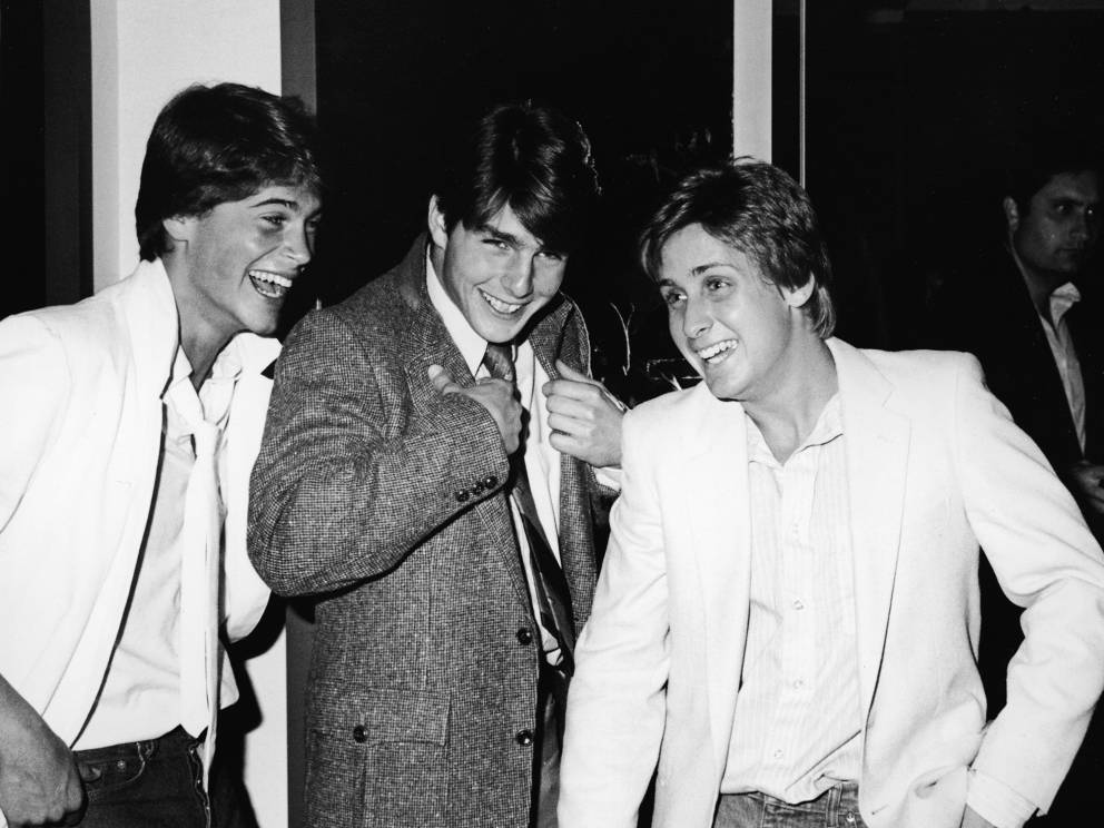 10. Rob Lowe, Emilio Estevez, and Tom Cruise