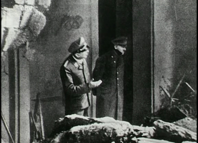 12. The last known photo of Hitler.