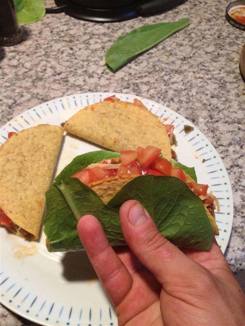 1. Letuce as Taco savior