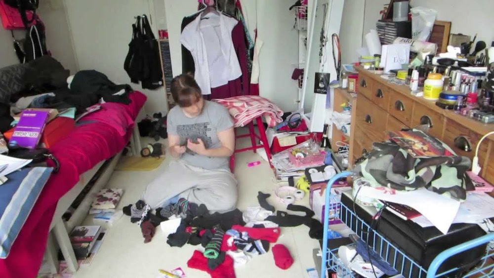 5. When you are not feeling well try cleaning your messy room
