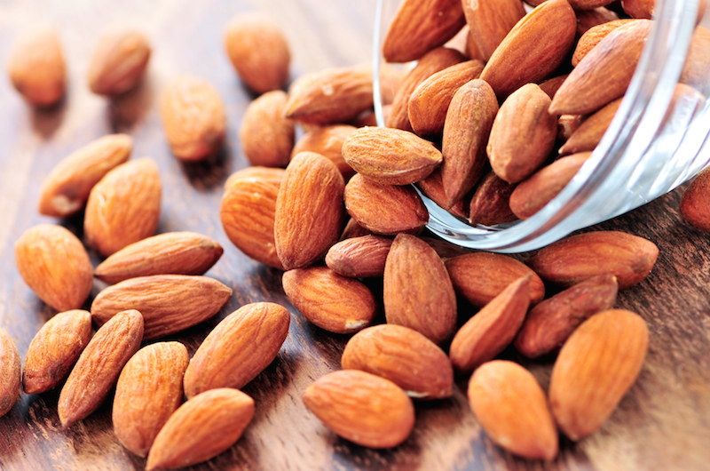9. Eat more healthy fats like almonds or avocados