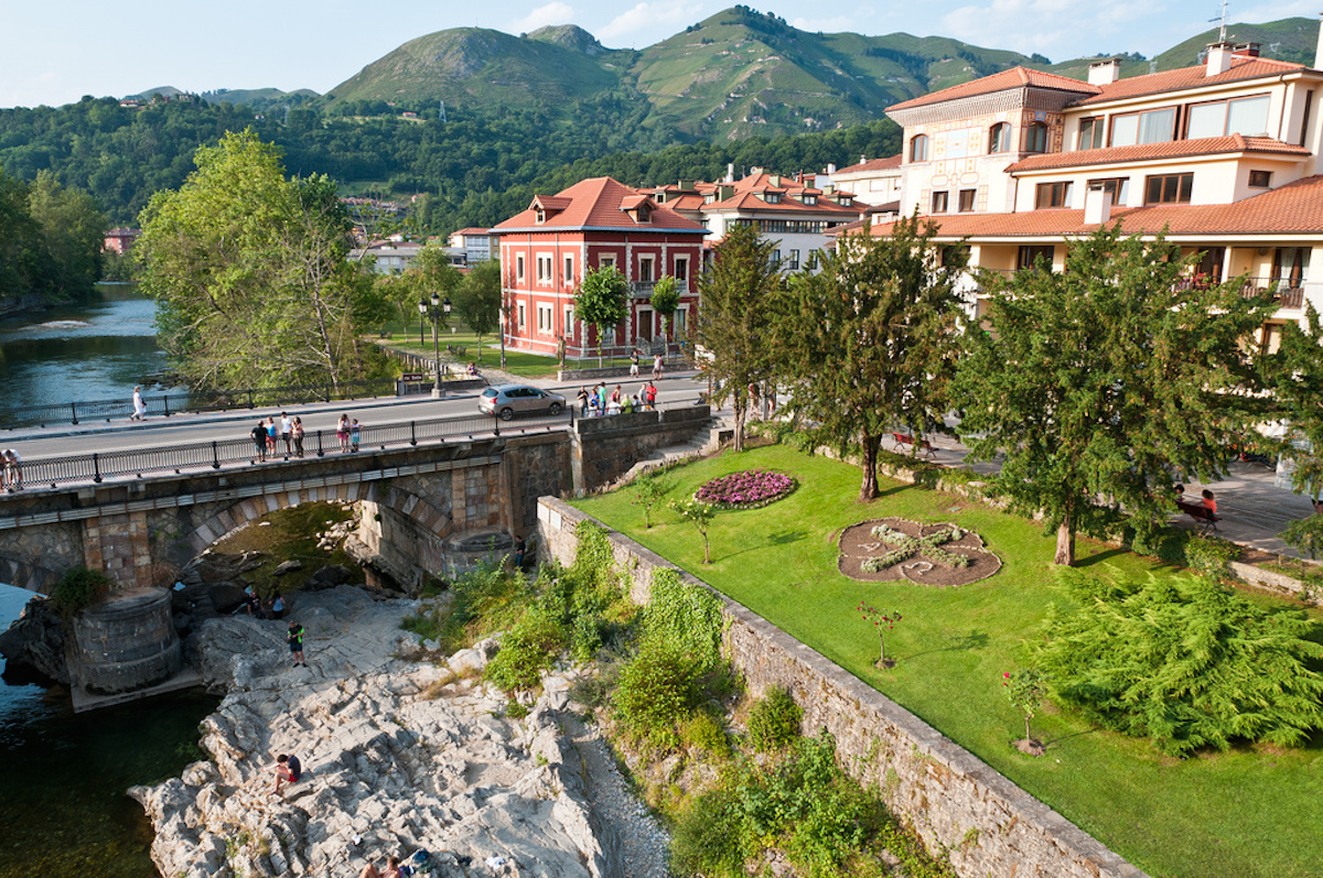 Cangas De Onis, northwestern region of Asturias, Spain.