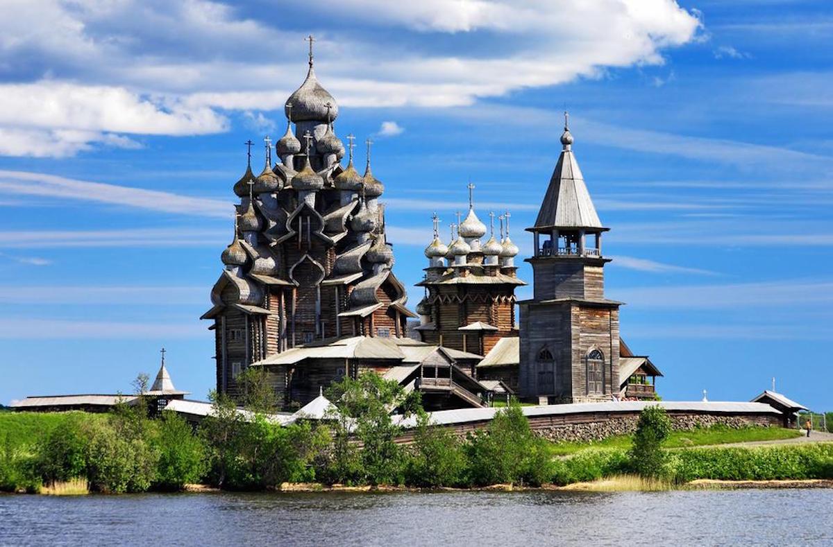 The Russian island of Kizhi, Onega River