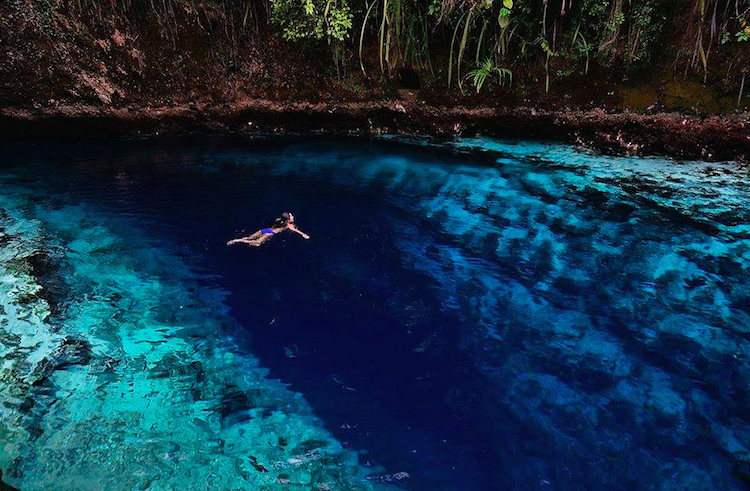 The Enchanted River in Surigao, Philippines