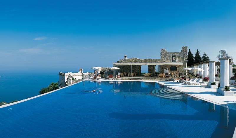 The Hotel Caruso's Infinity Pool