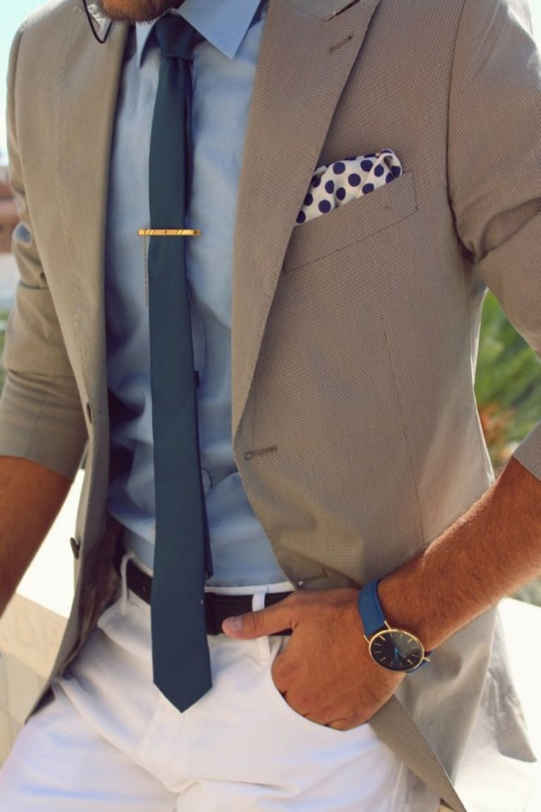 Your tie should always be darker than your dress shirt