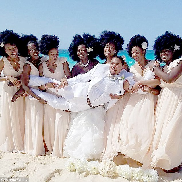 Natural Hairstyles For Wedding Day: Beautiful Bride's Wedding Photos Go Viral After Her