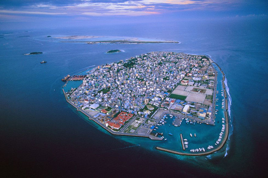 3. The Maldives are flooding due to global warming