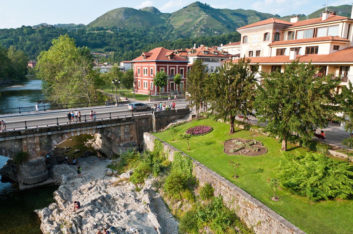 Cangas De Onis, northwestern region of Asturias, Spain.